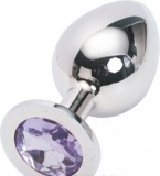 Анальная пробка Jewelery Butt Plug Silver Large, диаметр: 4 см